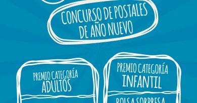 Cartel del concurso de postal de año nuevo