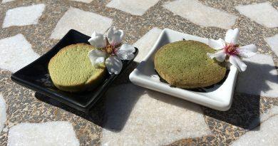 Galletas de té matcha con y sin mantequilla