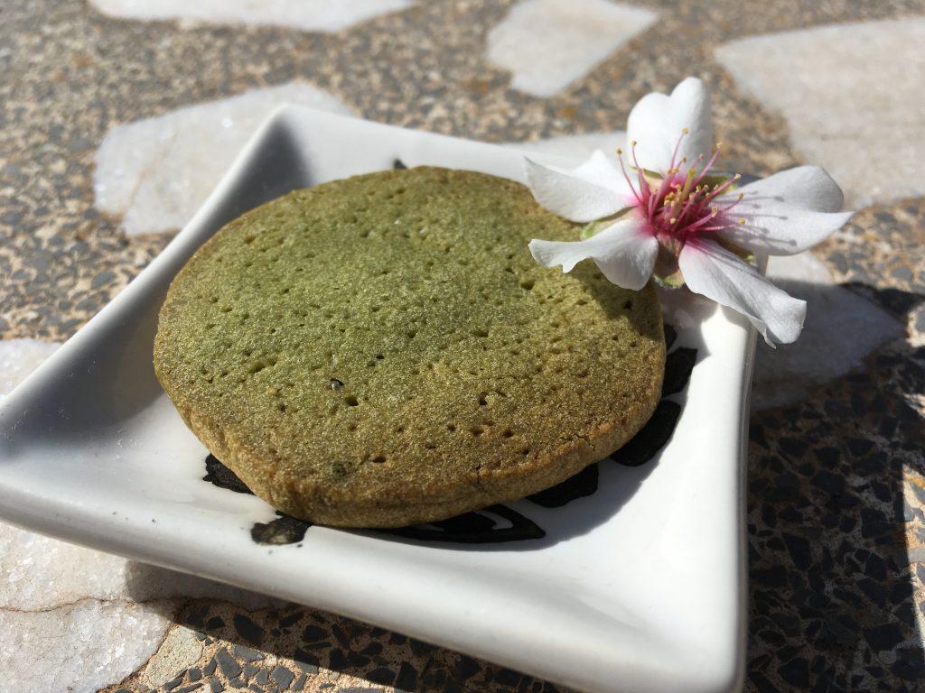 Galleta de té matcha sin mantequilla ni huevo